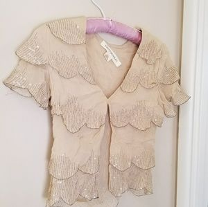 Urban Outfitters Thistlepearl beaded capelet cardi